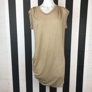 3.1 Phillip Lim Taupe Asymmetrical T Shirt Dress